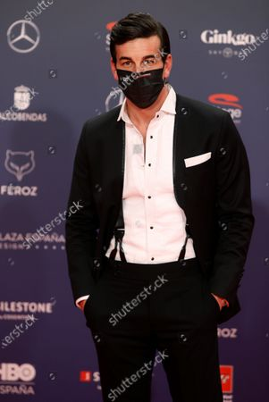 Mario Casas poses on the red carpet during the 8th Feroz Awards gala at the Coliseum Theater in Madrid, Spain, 02 March 2021. The award handout ceremony acknowledges prominent works in Spanish cinema and television productions.