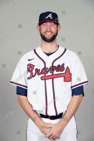 This is a 2021 photo of Chris Martin of the Atlanta Braves baseball team. This image reflects the Atlanta Braves active roster as of when this image was taken