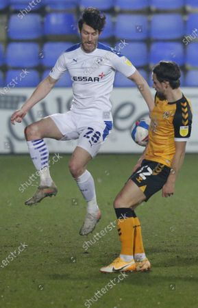 Stock Photo of David Nugent of Tranmere Rovers and Liam Shephard of Newport County
