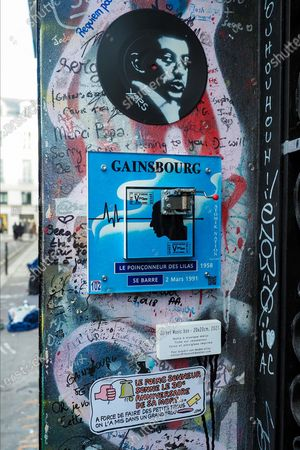 Editorial image of 30th anniversary of the death of Serge Gainsbourg, Paris, France - 02 Mar 2021