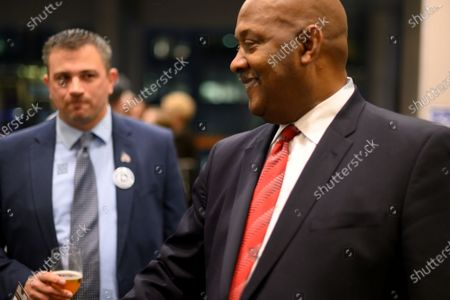 Congressman Dwight Evans mingles ahead of the Inaugural Independence Dinner, hosted by Pennsylvania Democratic Party, at the Pennsylvania Convention Center, in Philadelphia, PA, on November 1, 2019.