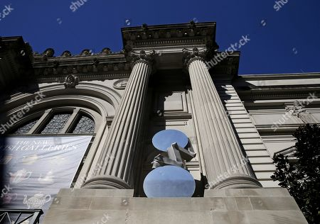 Editorial photo of New works by Carol Bove on view on The Met facade, New York, USA - 02 Mar 2021