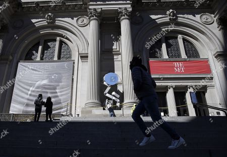 Editorial image of New works by Carol Bove on view on The Met facade, New York, USA - 02 Mar 2021