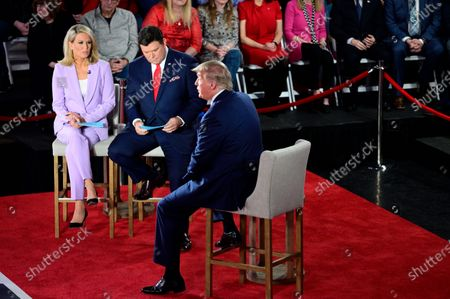 President Donald Trump attends a town hall hosted by FOX News Channel and co-moderated by Martha MacCallum and Bret Baier, at the Scranton Cultural Center in Scranton, PA, on March 5, 2020.