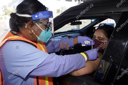 Editorial picture of Virus Outbreak California Vaccine, Inglewood, United States - 02 Mar 2021