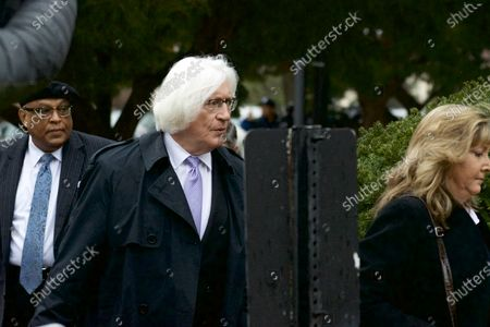 Bill Cosby's Defense Attorney Thomas Mesereau arrives for a March 29, 2018 pre-trial hearing at Montgomery County Courthouse, in Norristown, PA. The sexual assault trial against the American actor/entertainer is scheduled to start on April 2nd.