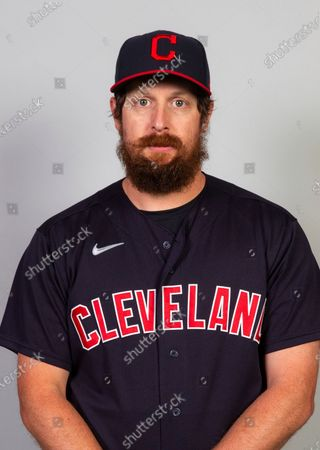 This is a 2021 photo of Brian Shaw of the Cleveland Indians baseball team. This image reflects the Cleveland Indians active roster as of when this image was taken