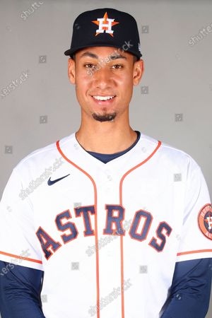 This is a 2021 photo of Taylor Jones of the Houston Astros baseball team. This image reflects the Houston Astros active roster as of when this image was taken