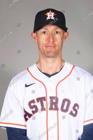 This is a 2021 photo of Michael Collins of the Houston Astros baseball team. This image reflects the Houston Astros active roster as of when this image was taken