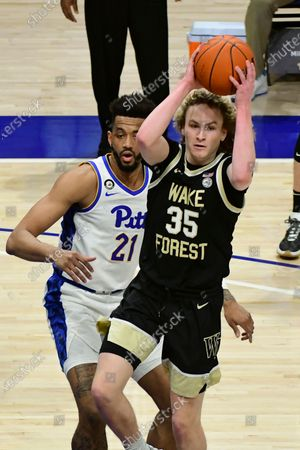 Editorial photo of Wake Forest Basketball, Pittsburgh, United States - 02 Mar 2021