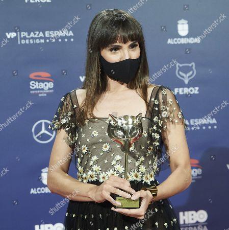 Veronica Echegui attends Feroz Awards 2021 - Winners Photocall at Coliseum Theatre