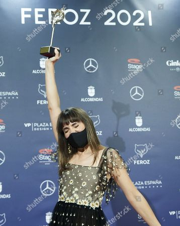Stock Photo of Veronica Echegui attends Feroz Awards 2021 - Winners Photocall at Coliseum Theatre