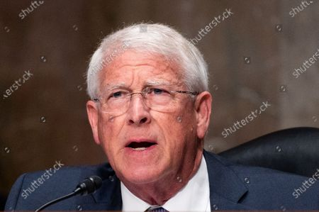 U.S. Senator Roger Wicker (R-MS) speaks at a Senate Armed Services Committee hearing on Global Security Challenges and Strategy.