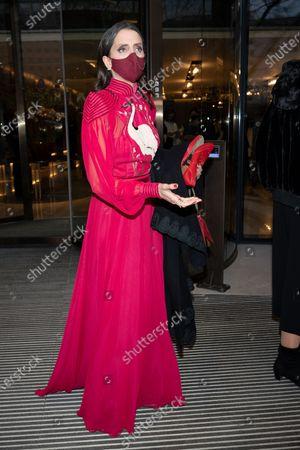 Macarena Gomez attends the Feroz Awards 2021 at Hotel VP Plaza Espana Design.