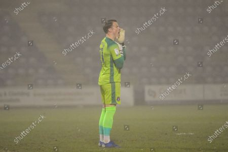 Carlisles Paul Farman during the Sky Bet League 2 match between Colchester United and Carlisle United at the Weston Homes Community Stadium, Colchester on Tuesday 2nd March 2021.