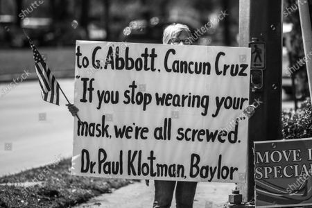 Editorial photo of Protests In Texas Continue Outside Senator's Houston Office, United States - 02 Mar 2021
