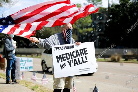 Editorial image of Protests In Texas Continue Outside Senator's Houston Office, United States - 02 Mar 2021