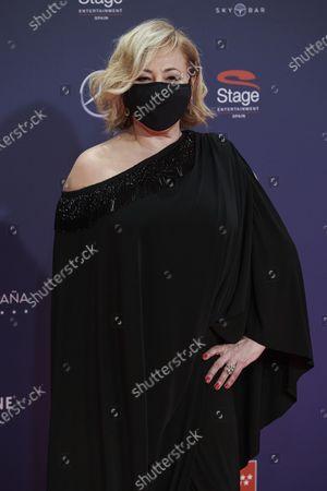 Carmen Machi attends the Feroz Awards 2021 Red Carpet at VP Hotel Plaza de España in Madrid, Spain