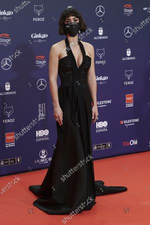 Stock Picture of Megan Montaner attends the Feroz Awards 2021 Red Carpet at VP Hotel Plaza de España in Madrid, Spain