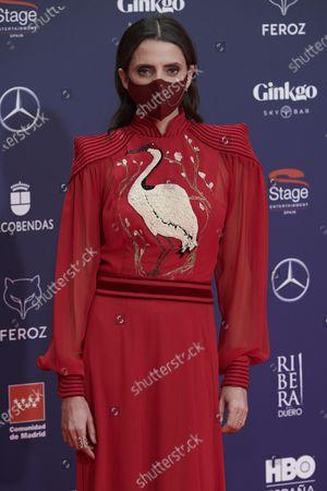 Macarena Gomez attends the Feroz Awards 2021 Red Carpet at VP Hotel Plaza de España in Madrid, Spain