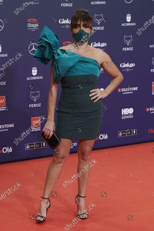Stock Photo of Candela Pena attends the Feroz Awards 2021 Red Carpet at VP Hotel Plaza de España in Madrid, Spain