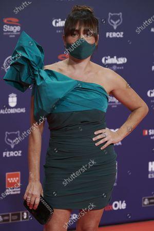 Candela Pena attends the Feroz Awards 2021 Red Carpet at VP Hotel Plaza de España in Madrid, Spain
