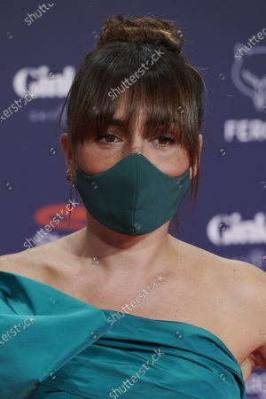 Stock Image of Candela Pena attends the Feroz Awards 2021 Red Carpet at VP Hotel Plaza de España in Madrid, Spain