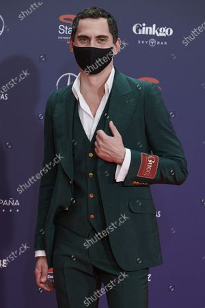 Stock Image of Paco Leon attends the Feroz Awards 2021 Red Carpet at VP Hotel Plaza de España in Madrid, Spain