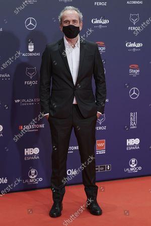 Willy Toledo attends the Feroz Awards 2021 Red Carpet at VP Hotel Plaza de España in Madrid, Spain