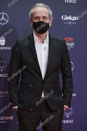Stock Picture of Willy Toledo attends the Feroz Awards 2021 Red Carpet at VP Hotel Plaza de España in Madrid, Spain