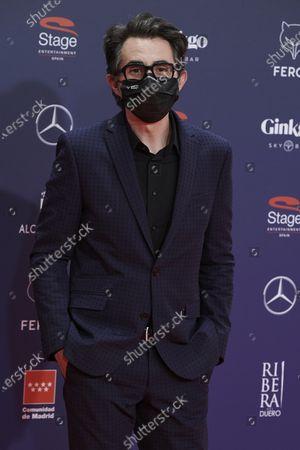 Berto Romero attends the Feroz Awards 2021 Red Carpet at VP Hotel Plaza de España in Madrid, Spain