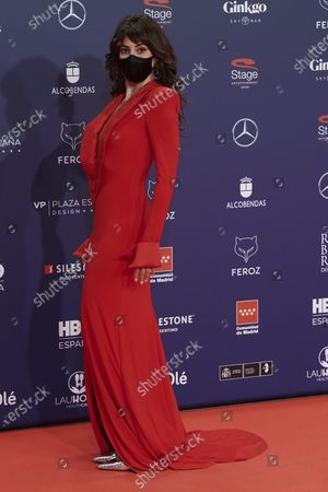 Stock Picture of Eva Ugarte attends the Feroz Awards 2021 Red Carpet at VP Hotel Plaza de España in Madrid, Spain