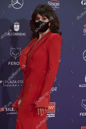 Eva Ugarte attends the Feroz Awards 2021 Red Carpet at VP Hotel Plaza de España in Madrid, Spain