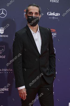 Stock Image of Javier Ruiz Caldera attends the Feroz Awards 2021 Red Carpet at VP Hotel Plaza de España in Madrid, Spain