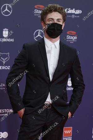 Stock Photo of Patrick Criado attends the Feroz Awards 2021 Red Carpet at VP Hotel Plaza de España in Madrid, Spain