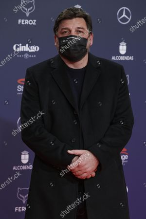 Stock Picture of Hovik Keuchkerian attends the Feroz Awards 2021 Red Carpet at VP Hotel Plaza de España in Madrid, Spain