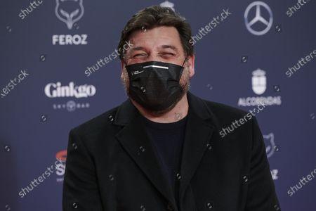 Hovik Keuchkerian attends the Feroz Awards 2021 Red Carpet at VP Hotel Plaza de España in Madrid, Spain