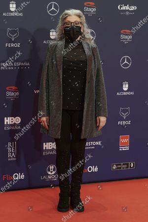Kiti Manver attends the Feroz Awards 2021 Red Carpet at VP Hotel Plaza de España in Madrid, Spain