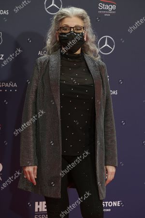 Stock Photo of Kiti Manver attends the Feroz Awards 2021 Red Carpet at VP Hotel Plaza de España in Madrid, Spain