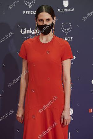 Barbara Santa Cruz attends the Feroz Awards 2021 Red Carpet at VP Hotel Plaza de España in Madrid, Spain