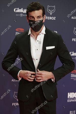 Mario Casas attends the Feroz Awards 2021 Red Carpet at VP Hotel Plaza de España in Madrid, Spain