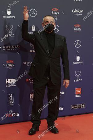 Eduard Fernandez attends the Feroz Awards 2021 Red Carpet at VP Hotel Plaza de España in Madrid, Spain