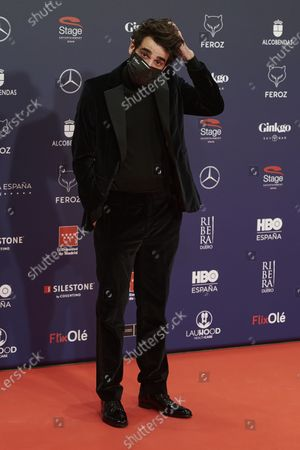 Stock Image of David Verdaguer attends the Feroz Awards 2021 Red Carpet at VP Hotel Plaza de España in Madrid, Spain