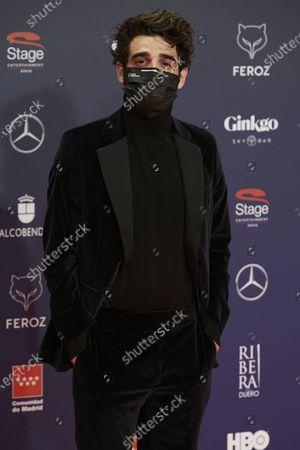David Verdaguer attends the Feroz Awards 2021 Red Carpet at VP Hotel Plaza de España in Madrid, Spain