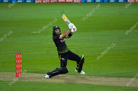 Australia's Glenn Maxwell in action during the third international men's T20 cricket match between the New Zealand Black Caps and Australia at Sky Stadium in Wellington, New Zealand on Wednesday, 3 March 2021.