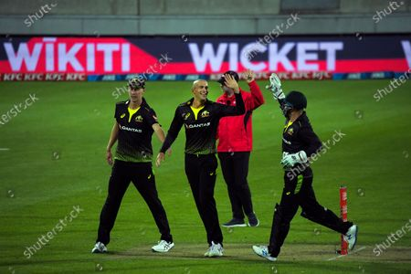 Editorial picture of NZ Black Caps v Australia, International T20 Cricket, Sky Stadium, Wellington, New Zealand - 03 Mar 2021