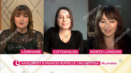 Lorraine Kelly, Sadie Frost and Frances Ruffelle