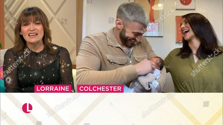 Stock Photo of Lorraine Kelly, Jake Quickenden, Sophie Church and baby Leo