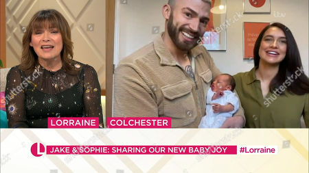 Stock Image of Lorraine Kelly, Jake Quickenden, Sophie Church and baby Leo