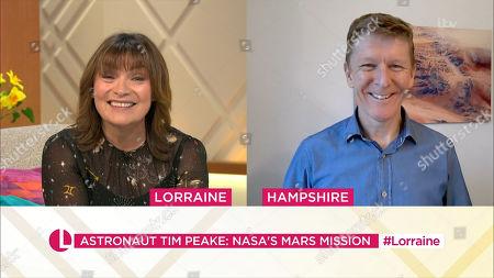 Stock Image of Lorraine Kelly and Tim Peake
